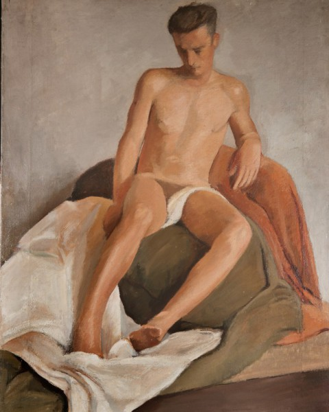 Nude young man graphic