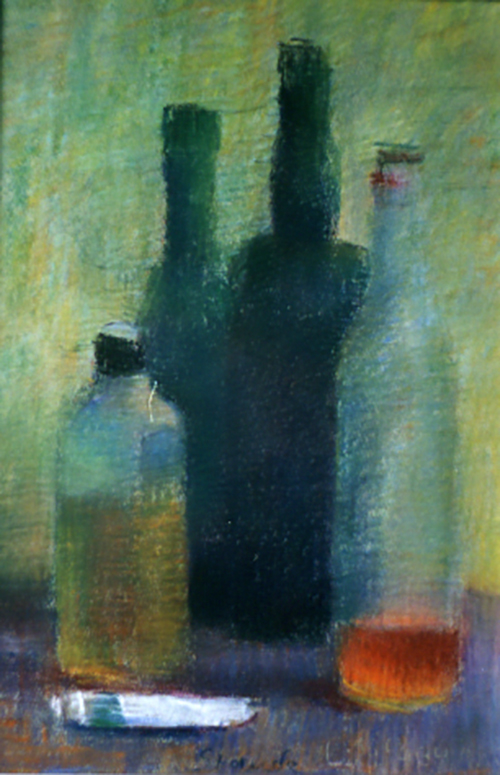 Quattro bottiglie e un tubetto graphic