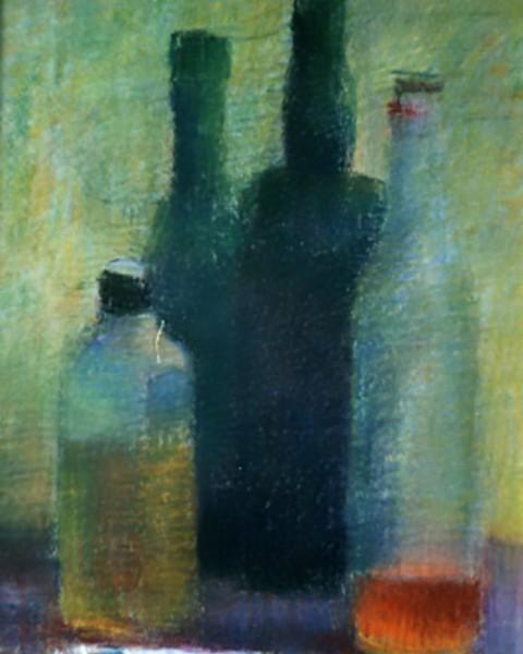 Vier Flaschen und eine Tube graphic