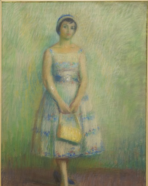 Standing young lady graphic