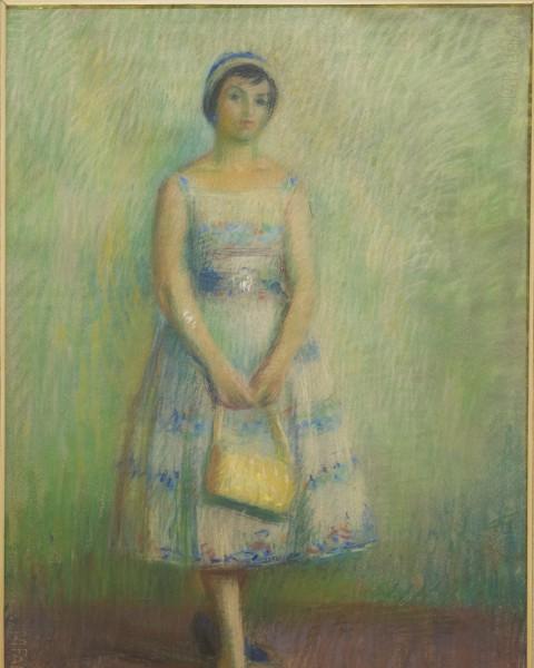 Giovane donna in piedi graphic