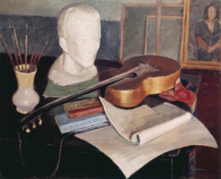 Fig. 11: Hans-Joachim Staude: Painting, Sculpture, Music and Poetry. Oil on canvas, 1937