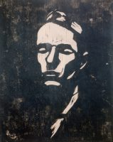 Fig. 6: Hans-Joachim Staude: Ritratto di Fritz Rougemont. Xilografia, 1922